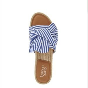 Franco Sarto Blue Knotted Sandals